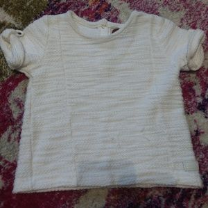 7 for all mankind girls 3t white short sleeve top